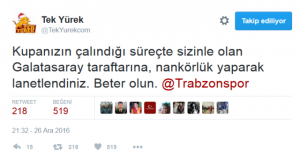 Trabzonspor'a her şey müstehak