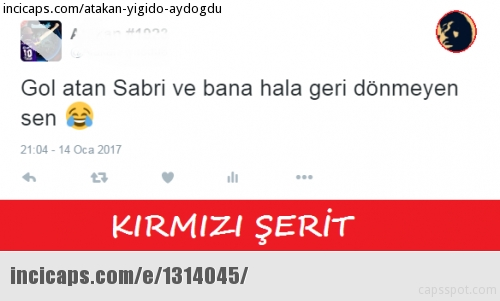 Sabri gol attı, capsler patladı